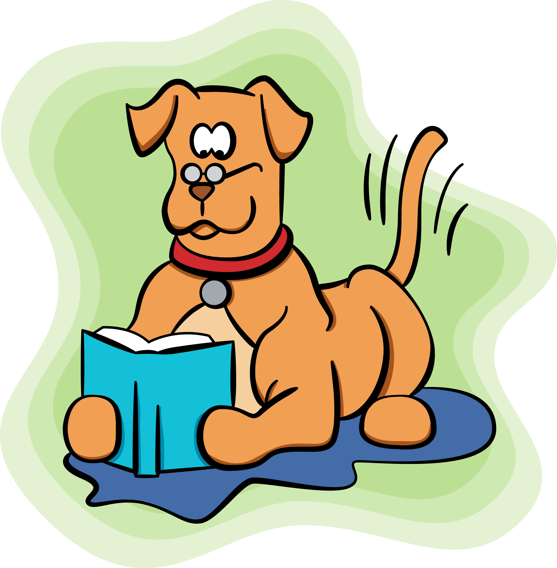 Paws-to-Read dog reading book