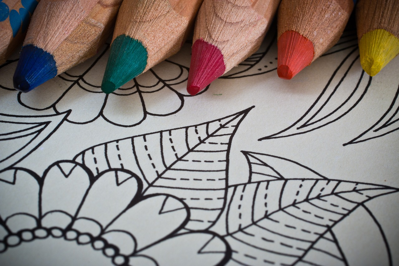 mandala with colored pencils